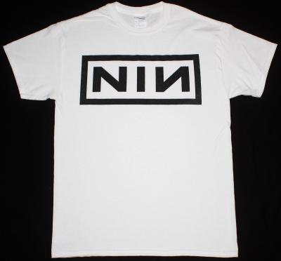 NINE INCH NAILS LOGO NEW WHITE T-SHIRT