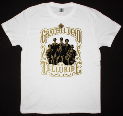 GRATEFUL DEAD IN TELLURIDE COLORADO NEW WHITE T SHIRT