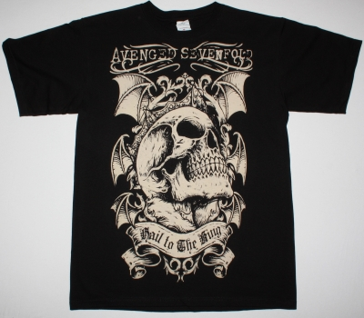 AVENGED SEVENFOLD SKULL HAIL TO THE KING NEW BLACK T-SHIRT