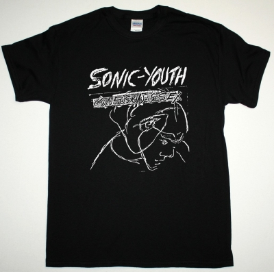SONIC YOUTH CONFUSION IS SEX NEW BLACK T SHIRT