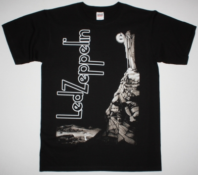 LED ZEPPELIN STAIRWAY TO HEAVEN NEW BLACK T-SHIRT