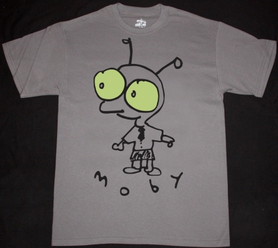 MOBY LITTLE IDIOT  NEW GREY CHARCOAL T-SHIRT