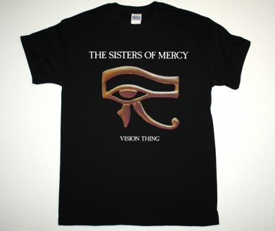 SISTERS OF MERCY VISION THING NEW BLACK T-SHIRT