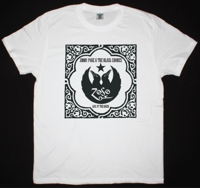 JIMMY PAGE AND THE BLACK CROWES NEW WHITE T-SHIRT