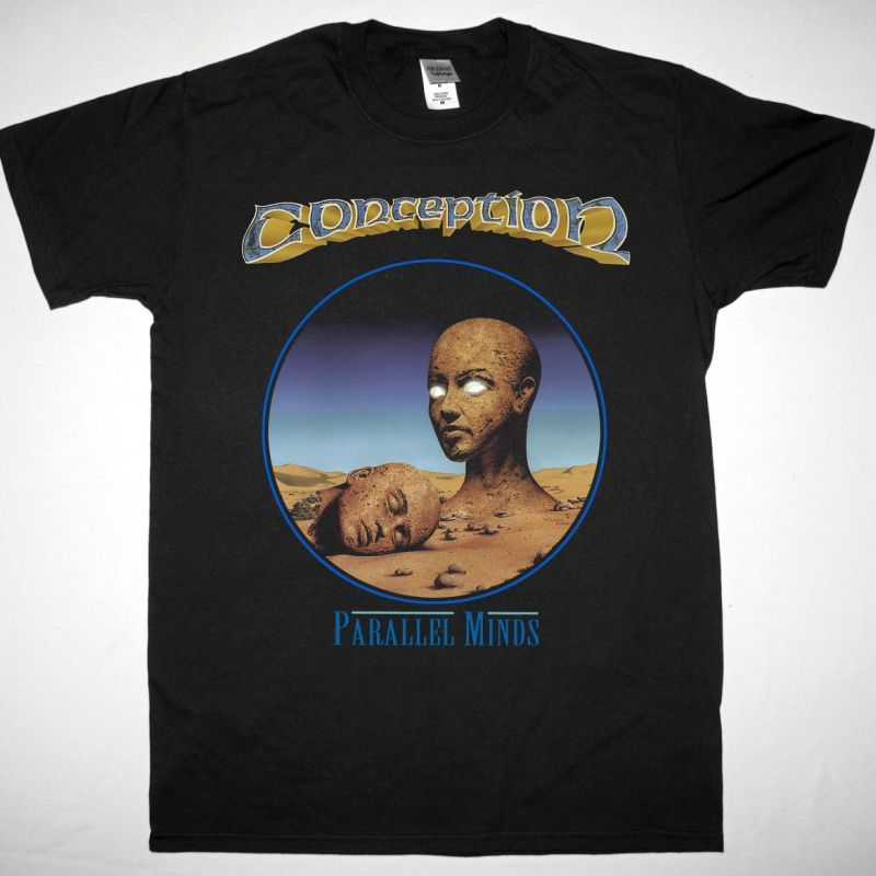 CONCEPTION PARALLEL MINDS NEW BLACK T-SHIRT
