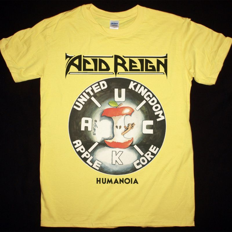 ACID REIGN HUMANOIA NEW YELLOW T-SHIRT