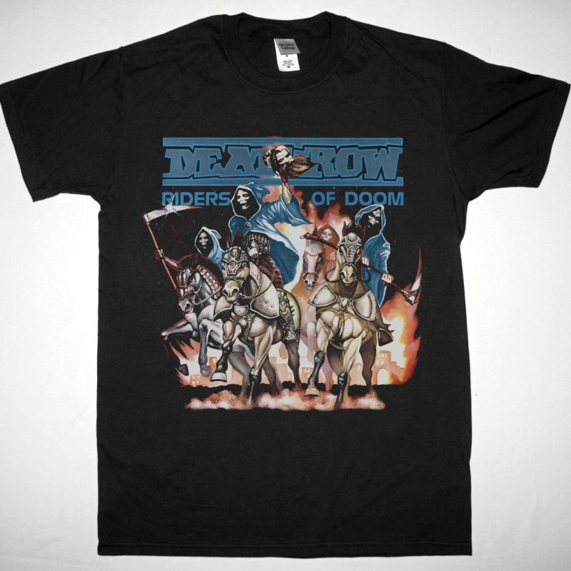 DEATHROW RIDERS OF DOOM 1986 NEW SPORT GREY T-SHIRT