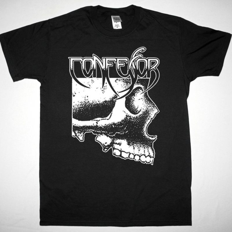 CONFESSOR CONDEMNED 1991 NEW BLACK T-SHIRT