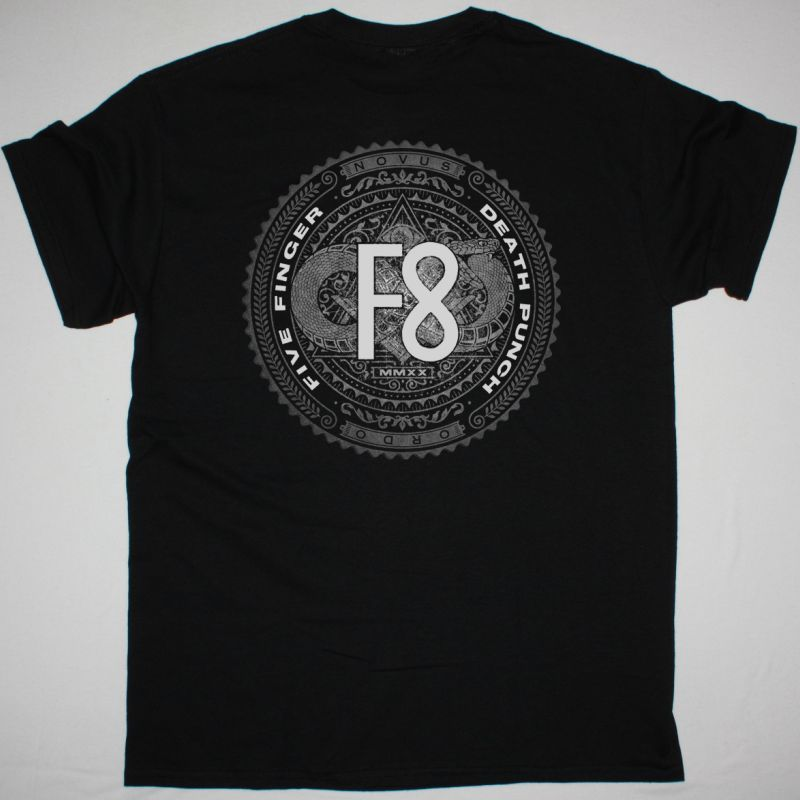 FIVE FINGER DEATH PUNCH F8 NEW BLACK T-SHIRT