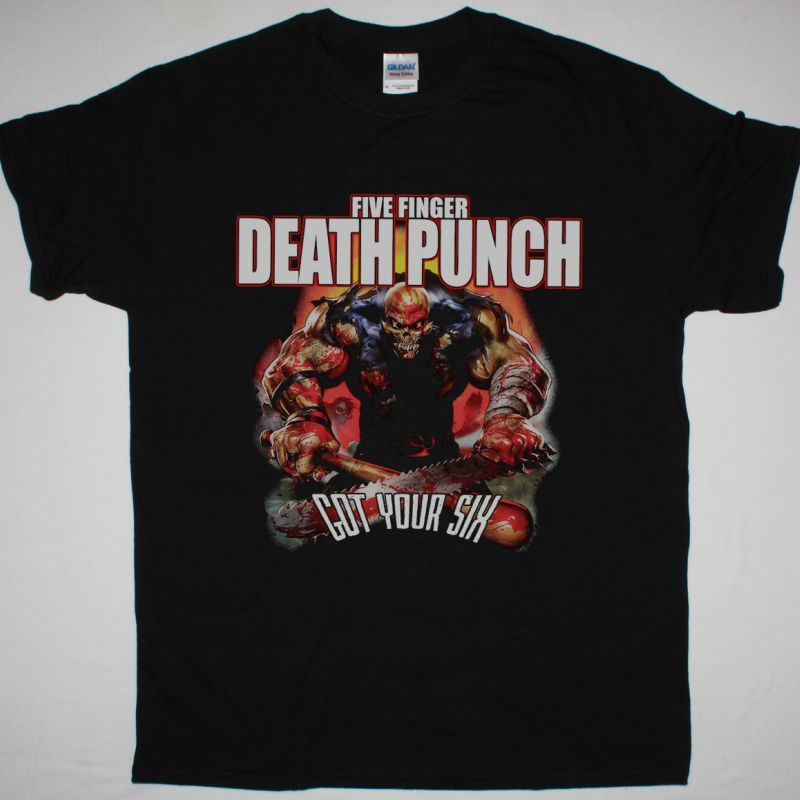 FIVE FINGER DEATH PUNCH GOT YOUR SIX NEW BLACK T-SHIRT