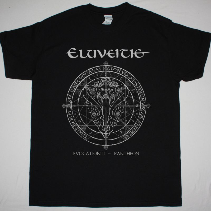 ELUVEITIE EVOCATION II PANTHEON  NEW BLACK T SHIRT