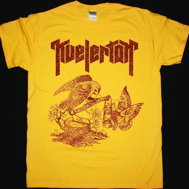 KVELERTAK BUTTERFLY OWL NEW YELLOW T-SHIRT