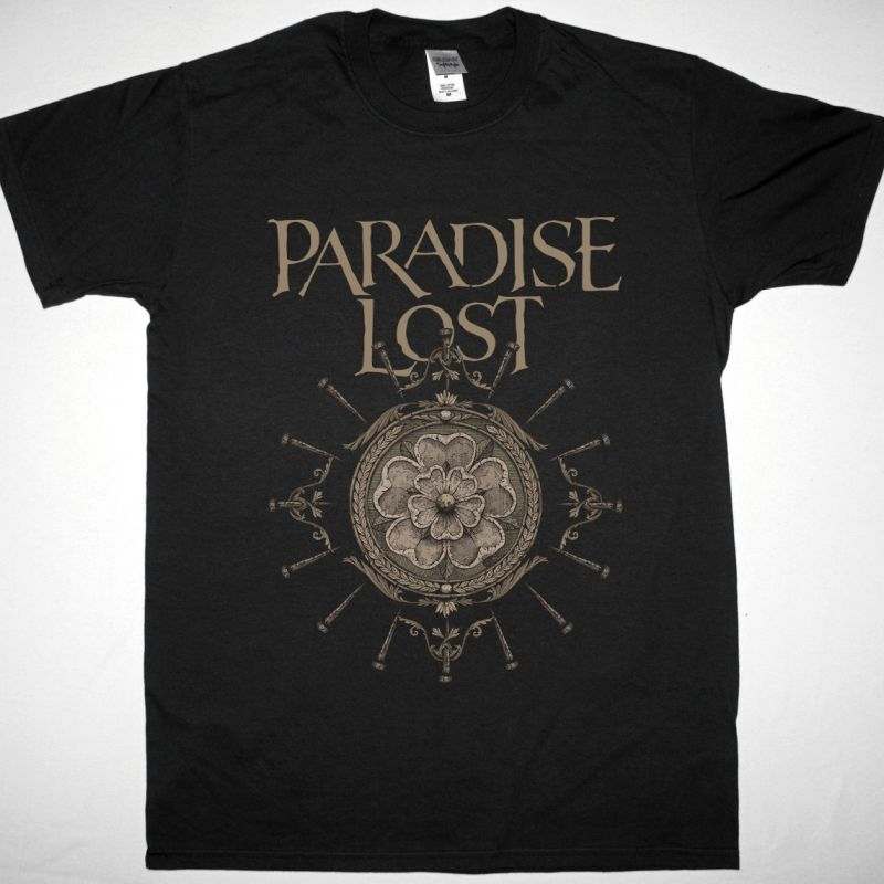 PARADISE LOST OBSIDIAN ROSE NEW BLACK T SHIRT