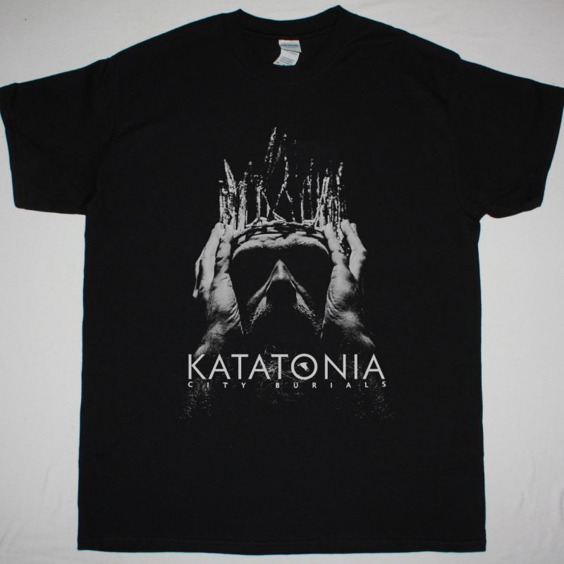 KATATONIA CITY BURIALS NEW BLACK T-SHIRT
