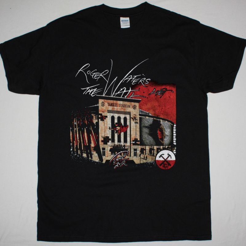 ROGER WATERS THE WALL LIVE YANKEE STADIUM NEW BLACK T-SHIRT
