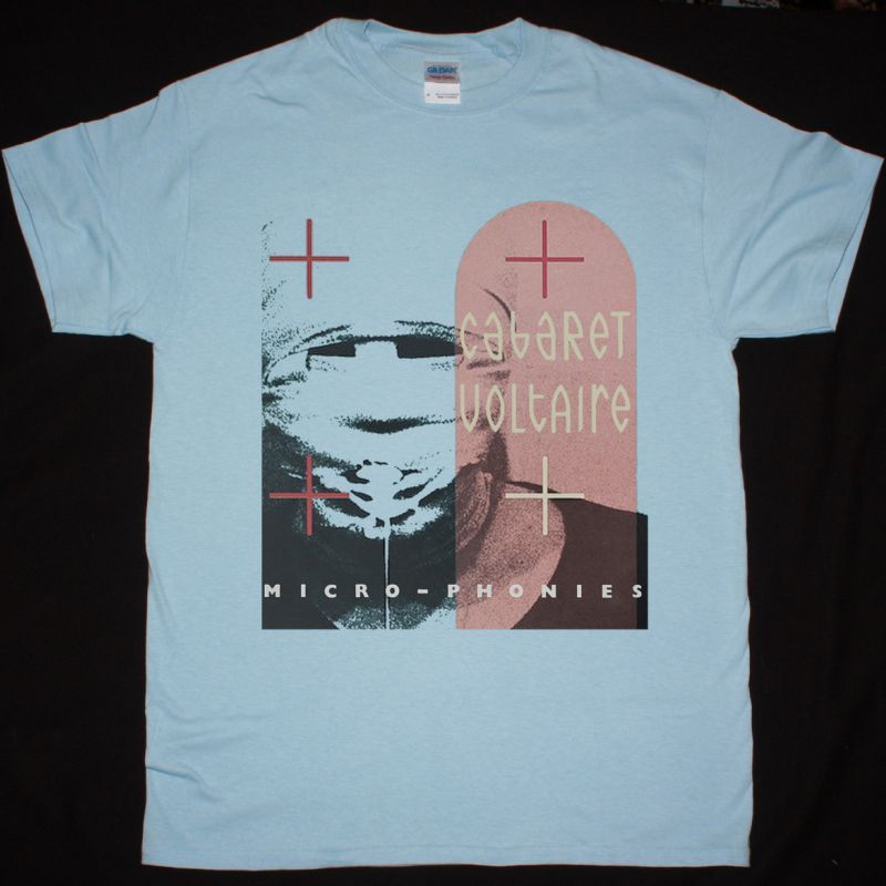 CABARET VOLTAIRE MICRO PHONIES NEW LIGHT BLUE T-SHIRT
