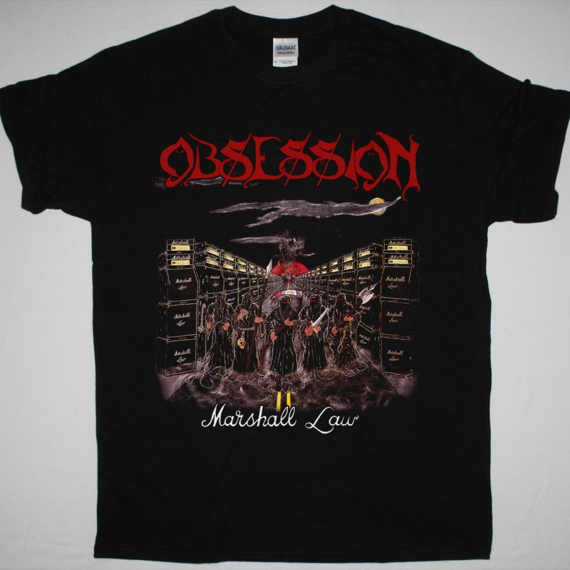 OBSESSION MARSHALL LAW  NEW BLACK T-SHIRT