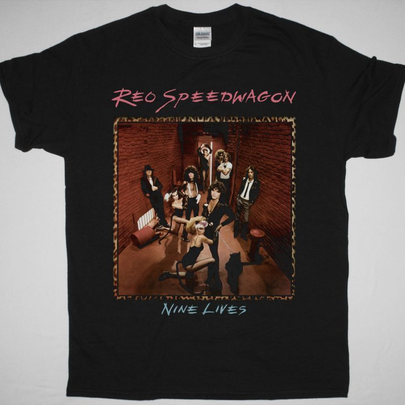 REO SPEEDWAGON NINE LIVES 1979 NEW BLACK T-SHIRT