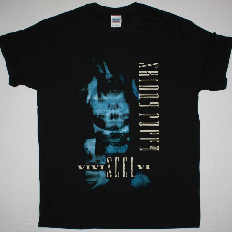 SKINNY PUPPY VIVISECTVI NEW BLACK T-SHIRT
