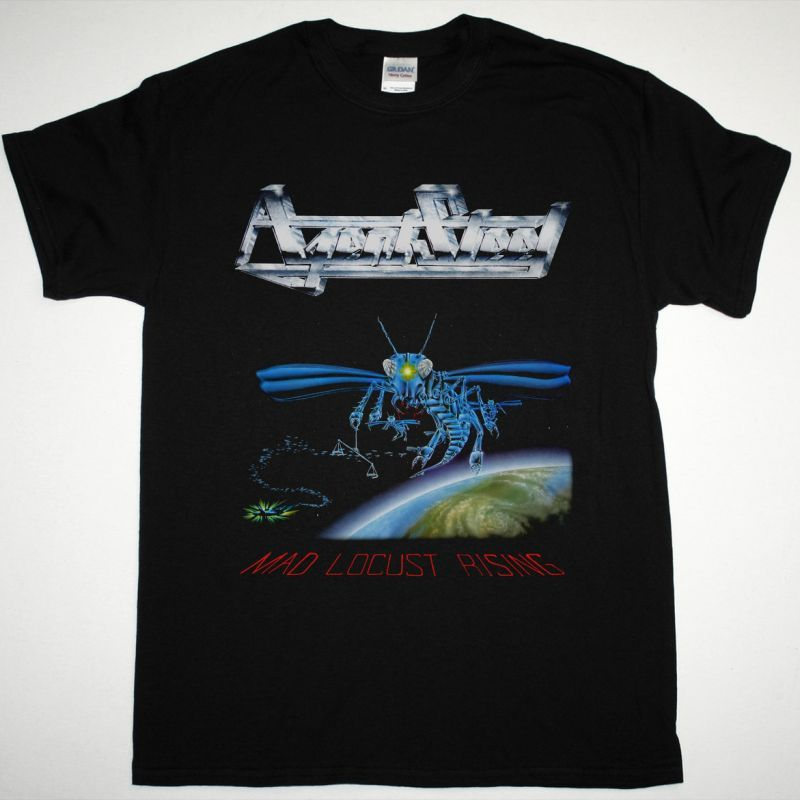 AGENT STEEL MAD LOCUST RISING NEW BLACK T SHIRT