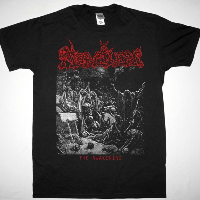 MERCILESS THE AWAKENING 1990 NEW BLACK T-SHIRT