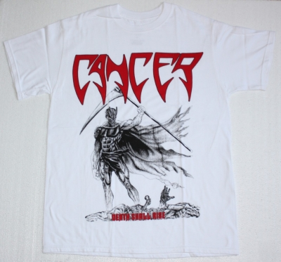 CANCER DEATH SHALL RISE NEW WHITE T-SHIRT