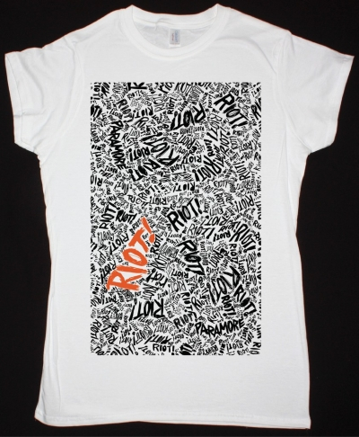 PARAMORE RIOT NEW WHITE LADY T-SHIRT