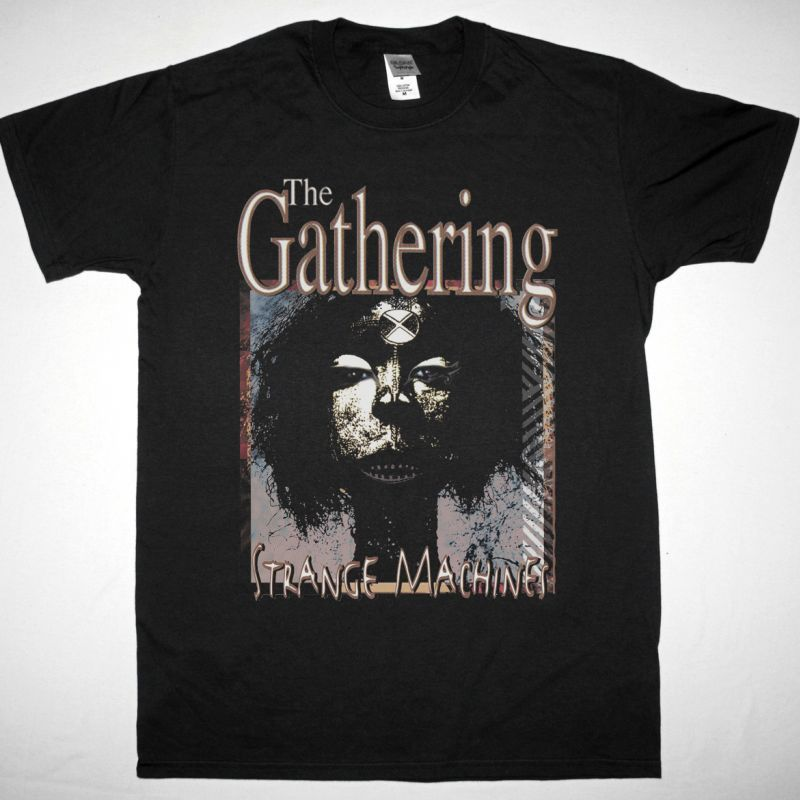 THE GATHERING STRANGE MACHINES NEW BLACK T-SHIRT