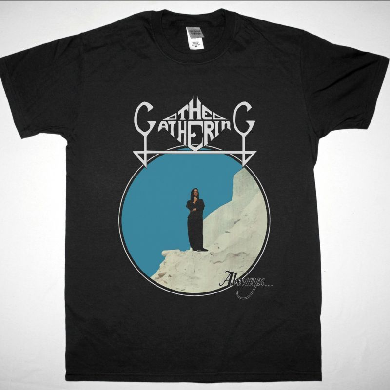 THE GATHERING ALWAYS 1992 NEW BLACK T-SHIRT
