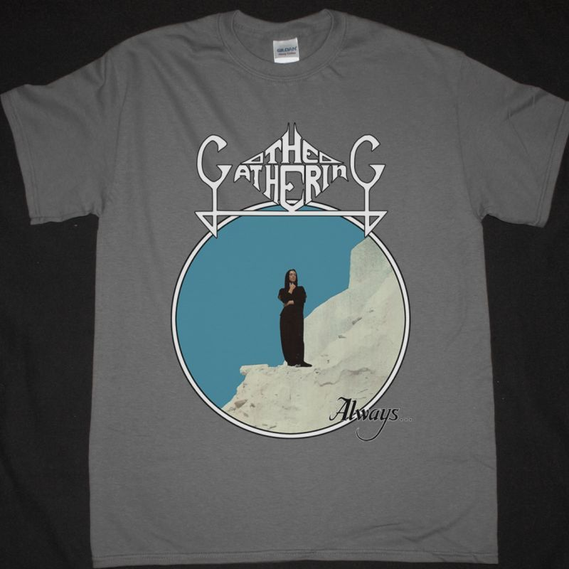 THE GATHERING ALWAYS 1992 NEW GREY T-SHIRT