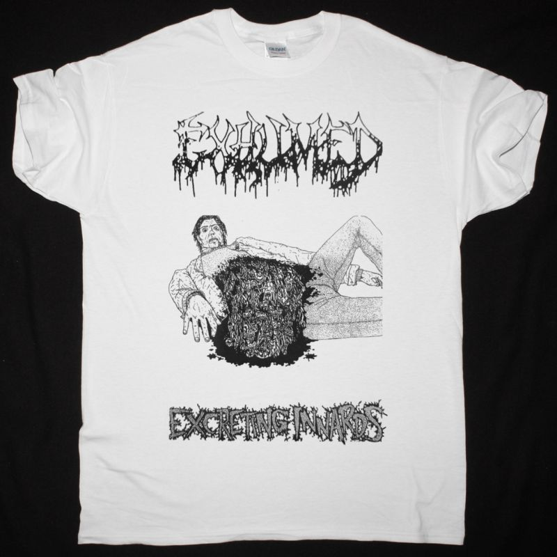 EXHUMED EXCRETING INNARDS 1992 NEW WHITE T-SHIRT