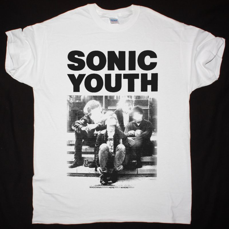 SONIC YOUTH MADONNA NEW WHITE T-SHIRT