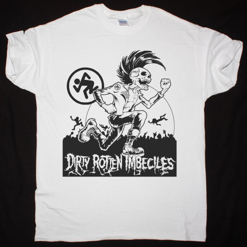D.R.I. MOSH PIT NEW WHITE T SHIRT
