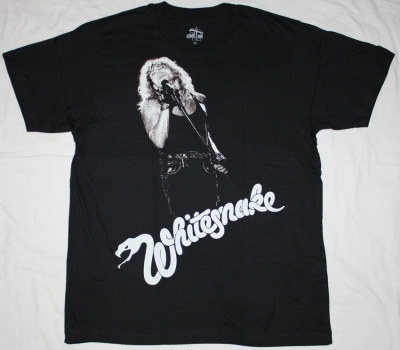 WHITESNAKE DAVID COVERDALE NEW BLACK T-SHIRT
