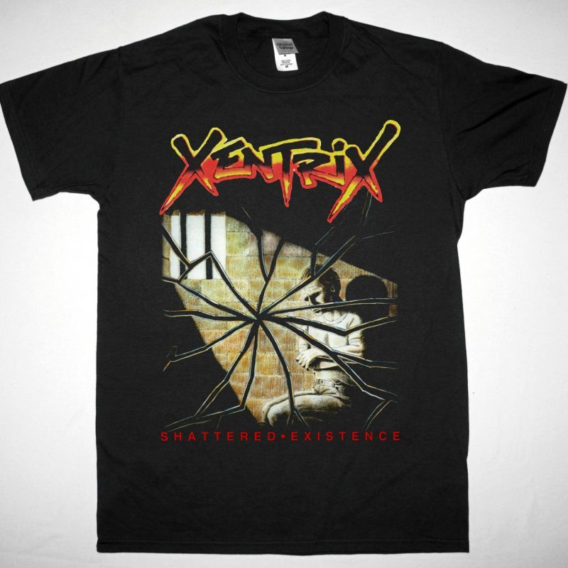 XENTRIX SHATTERED EXISTENCE NEW BLACK T-SHIRT