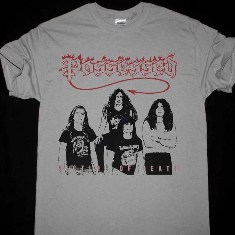 POSSESSED VICTIMS OF DEATH NEW LIGHT GREY T-SHIRT