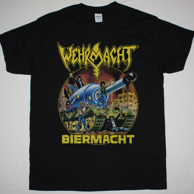 WEHRMACHT BIERMACHT NEW BLACK T-SHIRT