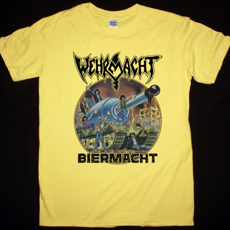 WEHRMACHT BIERMACHT NEW YELLOW T-SHIRT