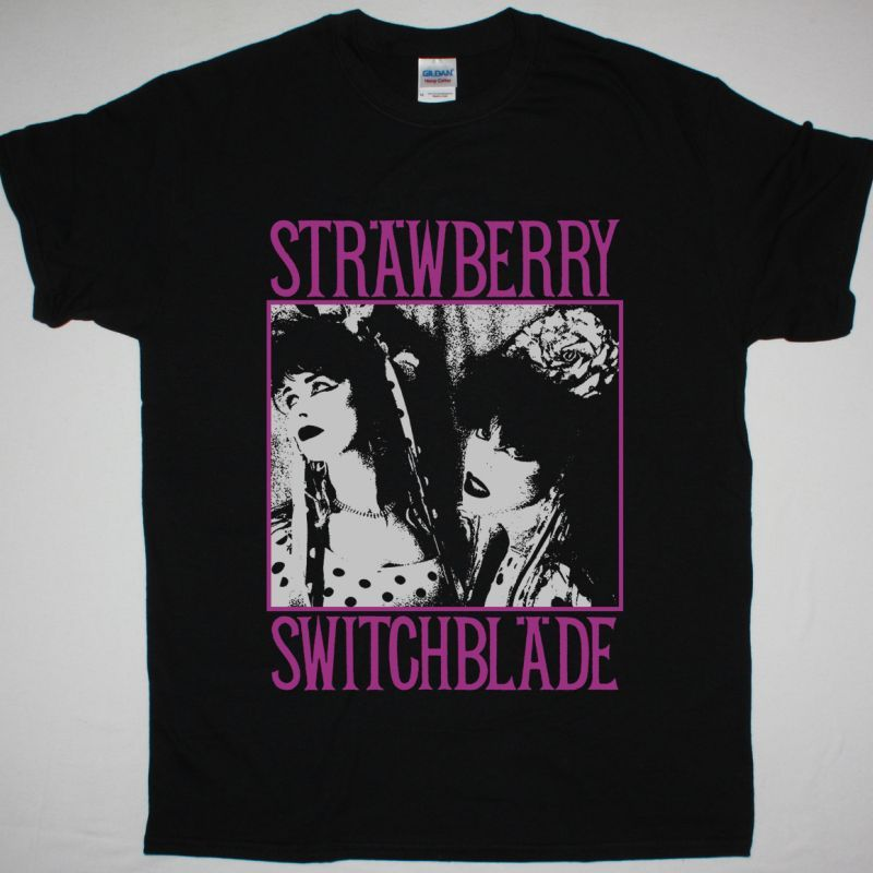 STRAWBERRY SWITCHBLADE STRAWBERRY SWITCHBLADE 1985 NEW BLACK T SHIRT
