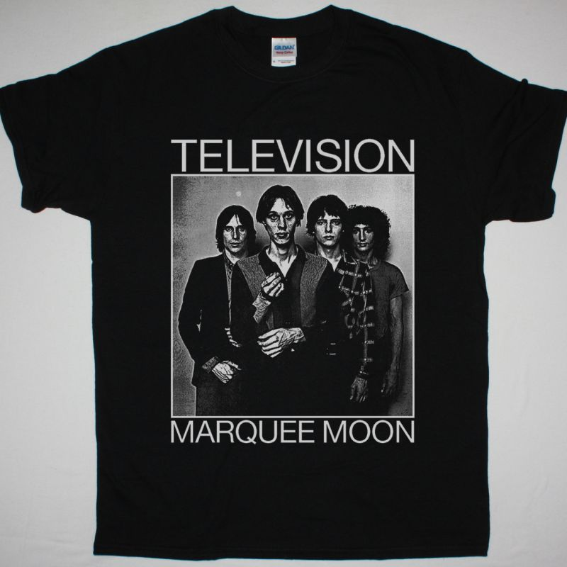 TELEVISION MARQUEE MOON BAND NEW BLACK T-SHIRT