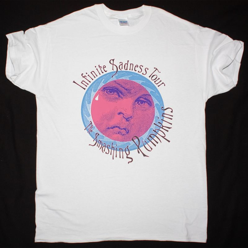THE SMASHING PUMPKINS INFINITE SADNESS TOUR NEW WHITE T-SHIRT