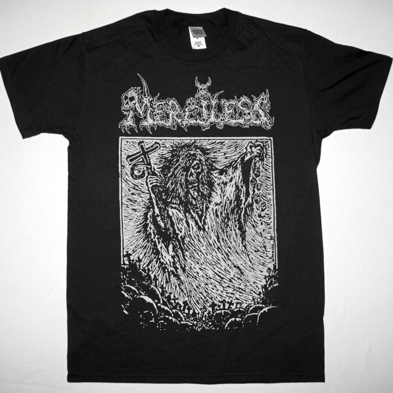 MERCILESS REALM OF THE DARK 1988 NEW BLACK T-SHIRT