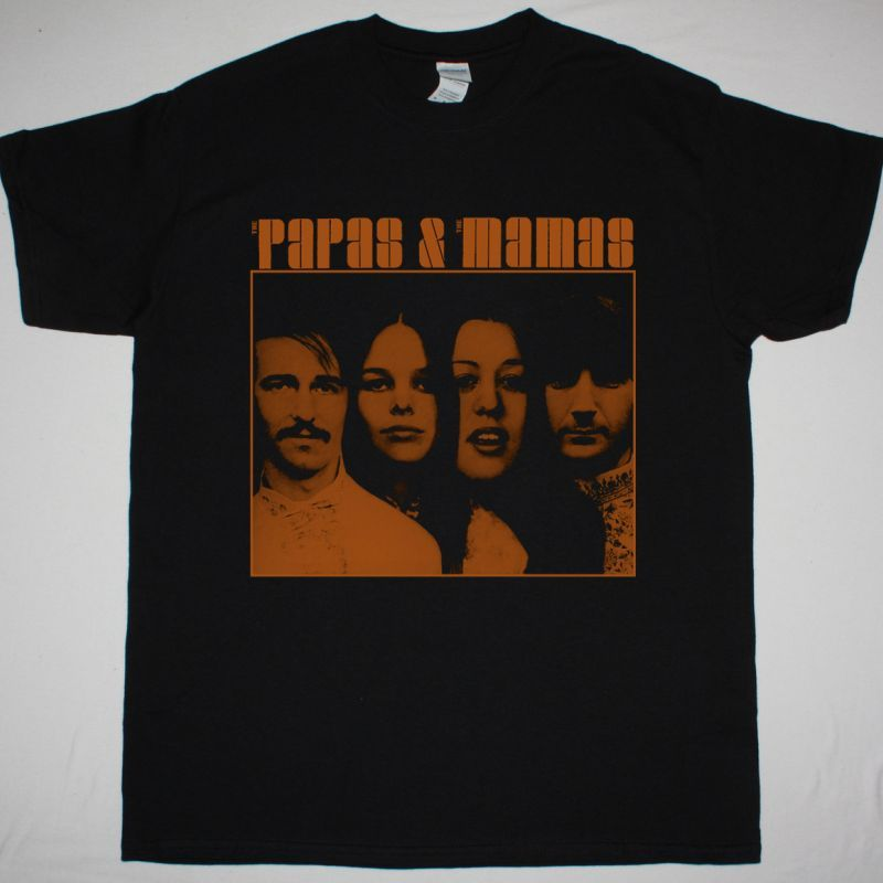 THE MAMAS AND THE PAPAS THE PAPAS & THE MAMAS NEW BLACK T SHIRT