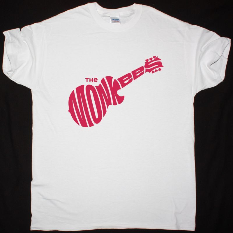 THE MONKEES LOGO NEW WHITE T SHIRT