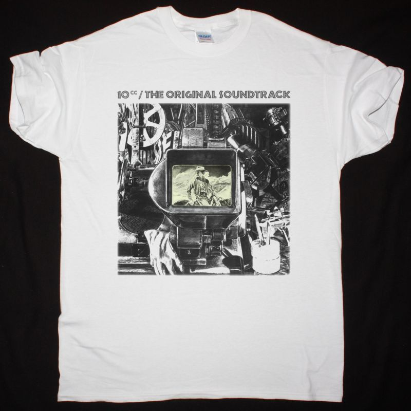 10CC THE ORIGINAL SOUNDTRACK 1975 NEW WHITE T-SHIRT