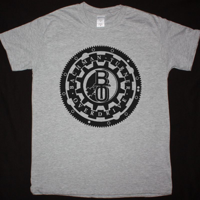 BACHMAN-TURNER OVERDRIVE BTO 1 NEW SPORT GREY T-SHIRT