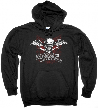 AVENGED SEVENFOLD LOGO NEW BLACK HOODIE