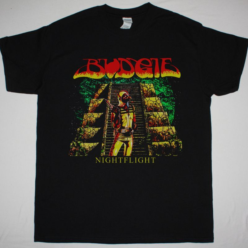 BUDGIE NIGHTFLIGHT 1981 NEW BLACK T-SHIRT