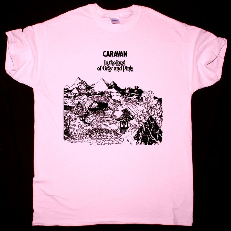 CARAVAN IN THE LAND OF GREY AND PINK NEW PINK T-SHIRT