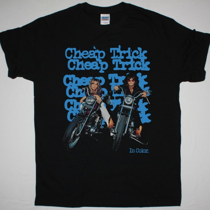 CHEAP TRICK IN COLOR NEW BLACK T-SHIRT